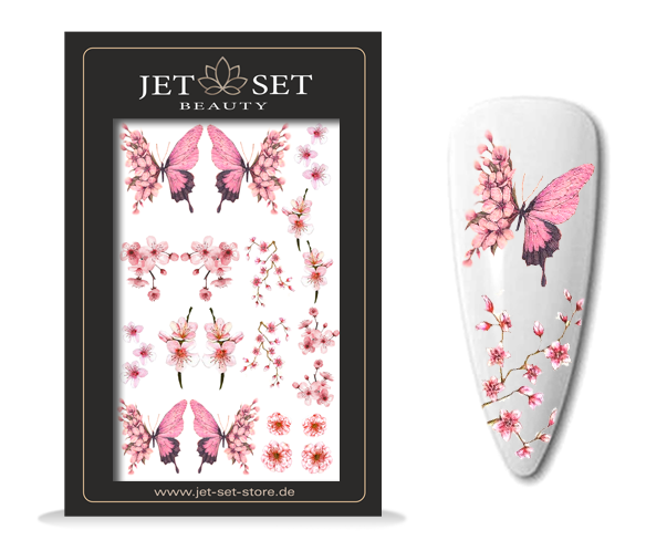 Nail Sticker | PINK BUTTERFLY