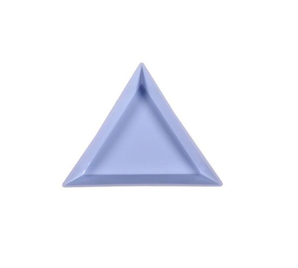 Strass Triangel Schale | BLUE