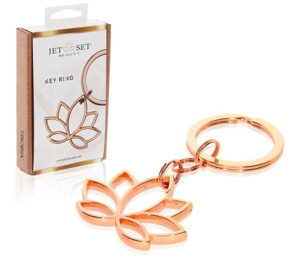 Schlüsselanhänger | Lotusblüte Roségold